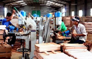 Một góc phân xưởng sản xuất của Công ty Thiên Bắc. Ảnh: Xuân Lộc