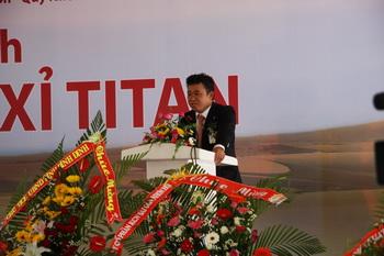 Ông Đặng Thành Tâm - Chủ tịch SGI phát biểu tại buổi Lễ