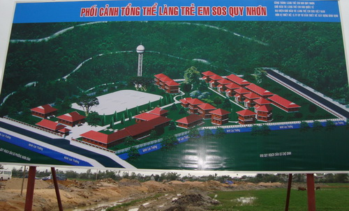 Phối cảnh tổng thể làng trẻ em SOS Quy Nhơn