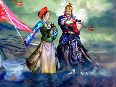 Nguyễn Huệ và Ngọc Hân công chúa.
