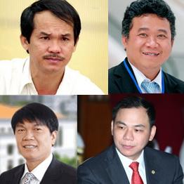 Top 10 doanh nhân giàu nhất trên sàn chứng khoán Việt Nam