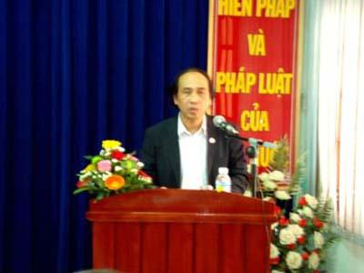 Đ/c Man Ngọc Lý, Trưởng ban, phát biểu tại Hội nghị