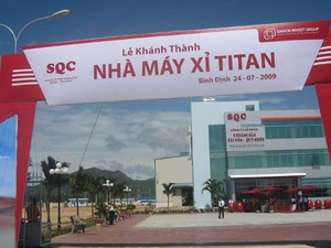 Nhà máy sản xuất titan của công ty khoáng sản Sài Gòn - Quy Nhơn