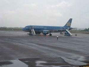 Máy bay Airbus A320 của Vietnam  Airlines tại Sân bay Phù Cát. (Nguồn: Wikipedia)